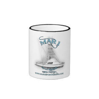 Mar1 Sport Fishing 31' Classic Bertram Coffee Mug Ringer Mug