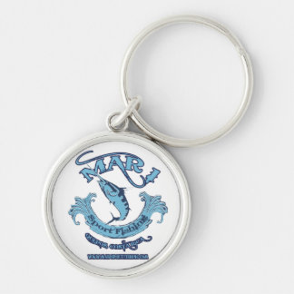 Mar1 Sport Fishing Classic Round Keychain Silver-Colored Round Keychain