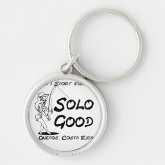 Mar1 Sport Fishing Solo Good Round Keychain Silver-Colored Round Keychain