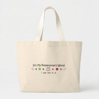 mar7Pomeranian.jpg Jumbo Tote Bag