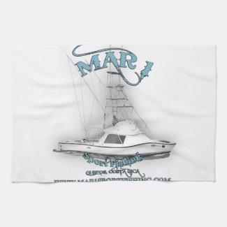 Mar 1 Sport Fishing 31' Bertram Kitchen Towel