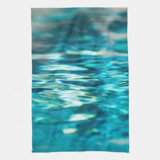 Mar abstracto de la aguamarina de la turquesa del toallas