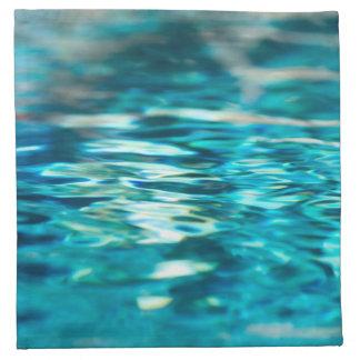 Mar abstracto de la aguamarina de la turquesa del servilleta de papel