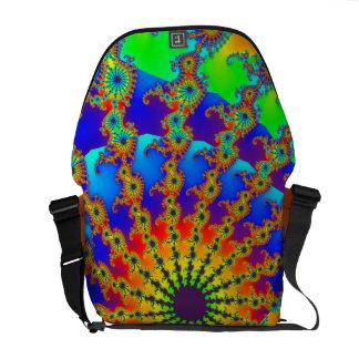 Mar abstracto del arco iris de la vida bolsa de mensajería