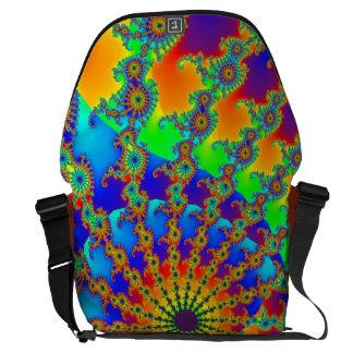 Mar abstracto del arco iris de la vida bolsas messenger