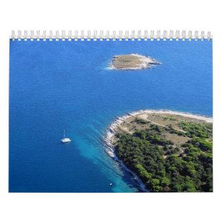 Mar adriático croata calendario de pared