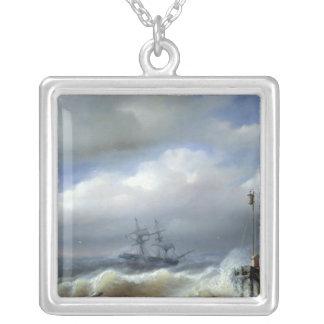 Mar agitado en el clima tempestuoso, 1846 colgante cuadrado