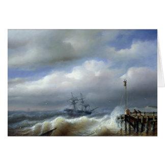 Mar agitado en el clima tempestuoso, 1846 tarjetas