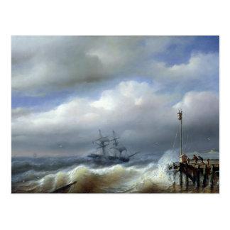 Mar agitado en el clima tempestuoso, 1846 tarjetas postales