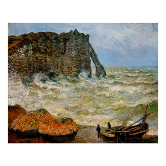 Mar agitado en Etreta, 1883 Póster