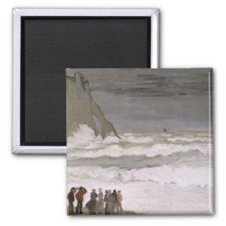 Mar agitado en Etretat, 1868-69 Iman De Frigorífico