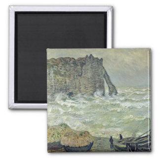 Mar agitado en Etretat, 1883 Iman De Frigorífico