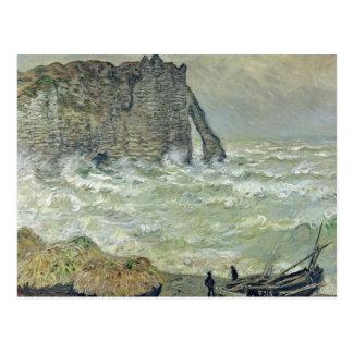 Mar agitado en Etretat, 1883 Tarjetas Postales