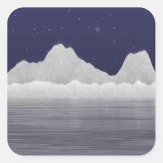 Mar ártico pegatina cuadrada