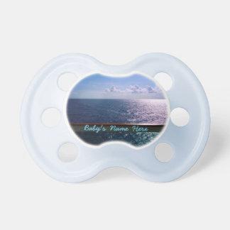 Mar azul personalizado chupete de bebe
