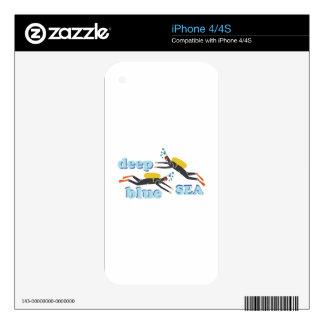 Mar azul profundo iPhone 4S skin