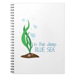 Mar azul profundo libreta espiral