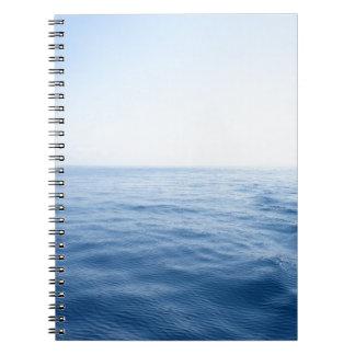 mar azul profundo libro de apuntes con espiral