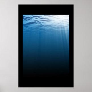 Mar azul profundo impresiones