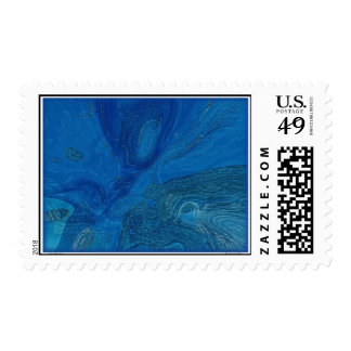 Mar azul profundo sellos