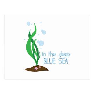 Mar azul profundo postales