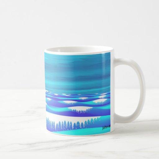 mar azul profundo taza de café