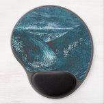 Mar azul salvaje del vintage alfombrillas de ratón con gel