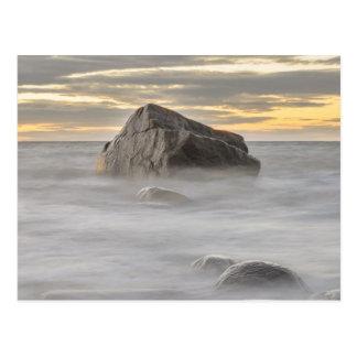 Mar Báltico de la puesta del sol de Purakkari del Tarjeta Postal