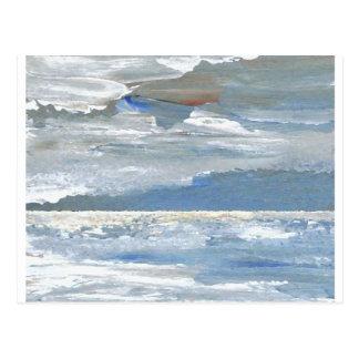 Mar brillante - el mar del arte del océano agita tarjeta postal