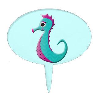 Mar-caballo del dibujo animado decoraciones de tartas