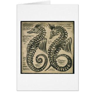 Mar-Caballo w c en el papel Felicitación