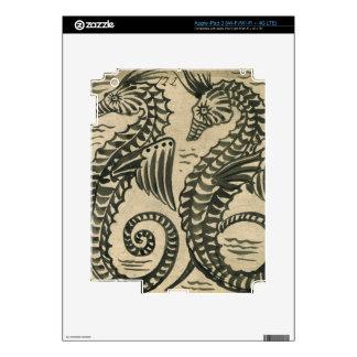 Mar-Caballo (w/c en el papel) iPad 3 Skin