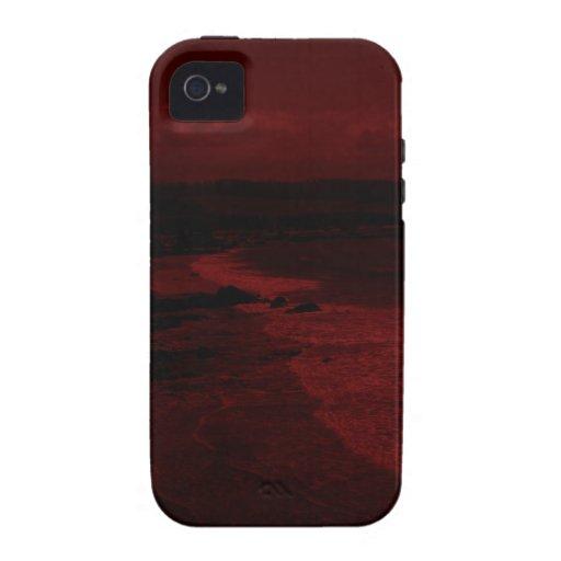 Mar carmesí vibe iPhone 4 carcasas