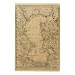 Mar Caspio Impresión En Madera