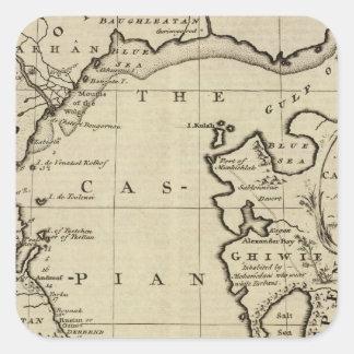 Mar Caspio Calcomanías Cuadradases