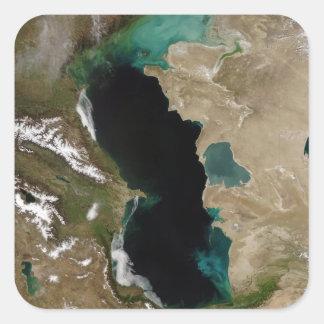 Mar Caspio Pegatina Cuadrada