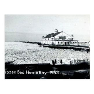 Mar congelado en la bahía de Herne - Kent -1963 Postal