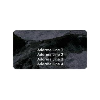 Mar de batido etiquetas de dirección