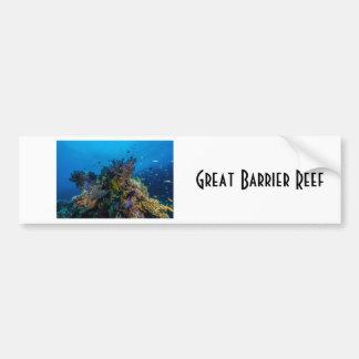 Mar de coral tropical de la gran barrera de coral pegatina para auto