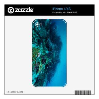 Mar de coral tropical de los pescados de la gran iPhone 4S skin