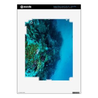 Mar de coral tropical de los pescados de la gran pegatinas skins para iPad 3