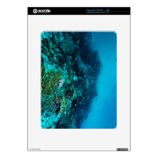 Mar de coral tropical de los pescados de la gran skin para el iPad