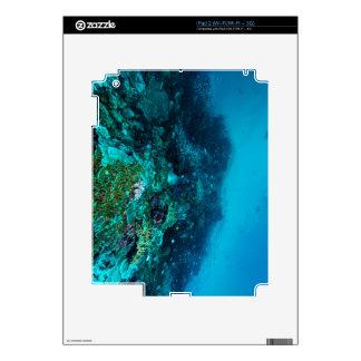 Mar de coral tropical de los pescados de la gran skin para el iPad 2