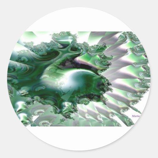 Mar de Emerald.jpg Etiqueta Redonda