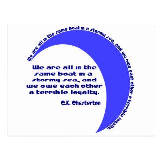Mar de G.K. Chesterton Stormy Postal