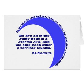 Mar de G.K. Chesterton Stormy Tarjeta De Felicitación