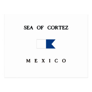 Mar de la bandera alfa de la zambullida de Cortez Tarjetas Postales