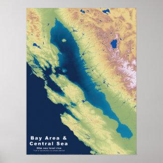 Mar de la central del área de la bahía de póster