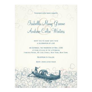 Mar de la invitación del boda del amor