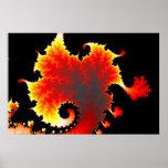 Mar de la lava - poster del fractal